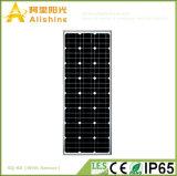 60W poder superior todo da bateria da vida Po4 em uma luz de rua solar Integrated com sensor de PIR