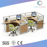 Kundenspezifischer moderne Möbel-Büro-Tisch-Partition-hölzerner Arbeitsplatz