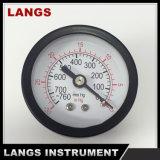 001 40mm黒い鋼鉄最下の真空の圧力計