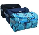 O saco cosmético do armazenamento impermeável do banheiro do organizador do jogo de curso carreg o saco do arti'culo de tocador do caso com cores de suspensão do múltiplo do gancho