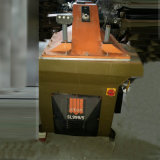 Verwendeter Italien-Atom-hydraulischer Schwingen-Arm 25 Tonnen-Leder-Ausschnitt-Maschine (SL999/5)
