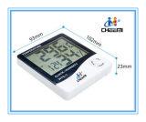 Higrómetro portátil do termômetro de Digitas C/F do pulso de disparo do LCD interno