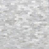 Azulejo de mosaico puro del blanco 10*20m m del shell de la perla de agua dulce de la madre