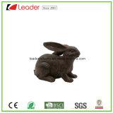Статуя кролика медного цвета Polyresin для украшения дома и сада