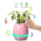 Crisol de flor colorido creativo de la música ligera de la maceta LED de Bluetooth