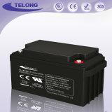 batería de cristal recargable del ácido sulfúrico del terminal de componente de la estera 12V75ah para la luz solar del LED