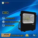3 años de la garantía 10W IP65 LED de luz de inundación al aire libre con 110lm/W