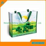 Sacchetti non tessuti verdi di promozione dei pp