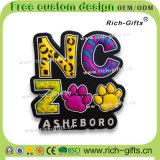 カスタマイズされたギフト昇進項目PVC冷却装置磁石の記念品Asheboro (RC-米国)