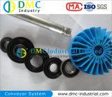 rulli del trasportatore del nero del tenditore del trasportatore dell'HDPE del sistema di trasportatore del diametro di 127mm