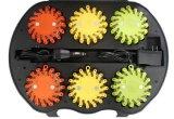 Tráfico colorido de la seguridad en carretera 9 in-1 16 LED que advierte la luz de la flama del LED