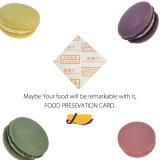 Una tarjeta más fresca de la tarjeta de la conservación de alimentos para la torta