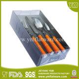 24 Stück Kunststoff Griff Besteck Set mit PVC-Box