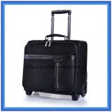 """Случай вагонетки командировки классической черноты 16 """", прочный Nylon мешок багажа перемещения, напольный чемодан с колесами"""