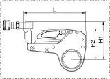 Llave inglesa de torque hidráulica del cassette del hexágono (acero inoxidable)