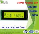 240X64 grafisch LCD Comité, MCU met 8 bits, Ra8822, 22pin, de Module van de MAÏSKOLF FSTN LCD