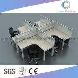 Sitio de trabajo modular de oficina del escritorio 2 de los asientos del vector moderno del ordenador