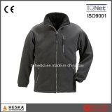 Ropa al aire libre ocasional de los hombres de la alta calidad de la chaqueta polar al por mayor del paño grueso y suave con la cremallera