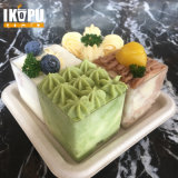 Bandeja biodegradable para alimentos de bambú con bagazo de caña de azúcar