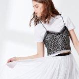 Damen zwei Stücke eingestellte Shirt-mit WäscheSequin Condole Riemen-Weste-Bluse