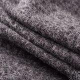 Tela de las lanas/de algodón para la capa del invierno en negro