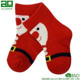 2017 calcetines acogedores del bebé de la Navidad del invierno del nuevo del regalo modelo de Santa