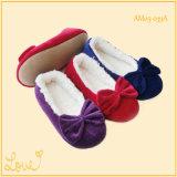 Теплые мягкие складные ботинки танцульки балета для девушок повелительниц