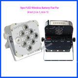 Luz sem fio da PARIDADE da bateria do diodo emissor de luz 9PCS*15W de DMX