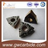Capa de torneado indexable Cnmg del CVD de las piezas insertas del carburo