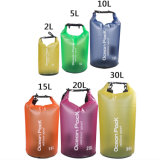 Transparente Boating Floating PVC Waterproof Dry Sack Bag