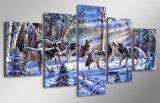 HD напечатало волков в холстине Mc-076 изображения плаката печати декора комнаты печати холстины картины снежка
