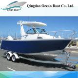 Yacht di pesca di piacere dell'alluminio di alta qualità 6.25m del rifornimento della fabbrica