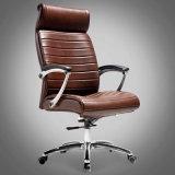 Эргономический стул босса офиса с кожей и сеткой