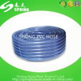 Manguito de jardín flexible trenzado del PVC de la fibra