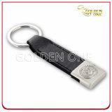 高品質によって浮彫りにされるロゴPU革Keychain