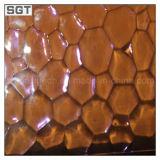 3-10mm de color claro vidrio impreso con ISO9001 y En12150