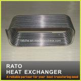 O aço inoxidável bobinou a câmara de ar do condensador de refrigeração água