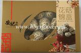 Проветренный гриб Shiitake белого цветка с коробкой подарка цвета