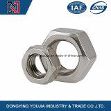 Écrou mince hexagonal en acier inoxydable avec filetage fin