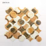 レストラン様式の円パターンステンドグラスの芸術のモザイク・タイルシート