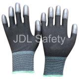 Il guanto di nylon nero con l'unità di elaborazione ha ricoperto sulle punte delle dita (PN8013)