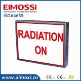 LED 경고 메시지 전시에 의하여 분명히되는 널 표시 엑스레이 사용 중 표시