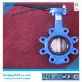 Tipo válvula do talão de borboleta da selagem de EPDM com punho, forro de borracha Bct-Lt-02