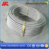 Boyau de teflon tressé de la qualité solides solubles/boyau hydraulique R14