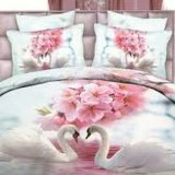 3D DIGITAL Printing 100%年のCotton Bedding Sets
