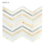 Color Beveled Pieces Art Glass Mosaic Linear Tile for Pool