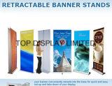 Le stand escamotable portatif de drapeau de vente chaude/enroulent le drapeau/tirent vers le haut le stand de drapeau