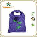 昇進の高品質のローズの形のポリエステルによって印刷されるFoldableショッピング・バッグ