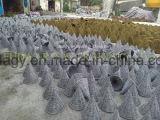 Корзина шестиугольного конструктора конуса вися в Bamboo листьях веревочки & ладони