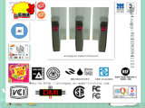 Leitor de cartão magnético, braço retrátil da gota da segurança automática para o torniquete do sistema do comparecimento da impressão digital
